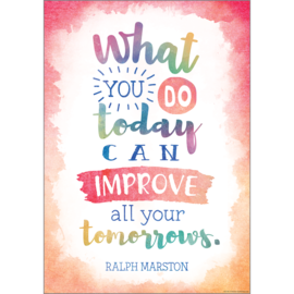 Watercolor What You Do Today...-Poster