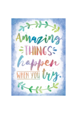 Watercolor Amazing Things Happen When You Try.....poster