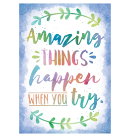 Watercolor Watercolor Amazing Things Happen...-Poster