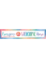 Watercolor Everyone is Welcome Here Banner