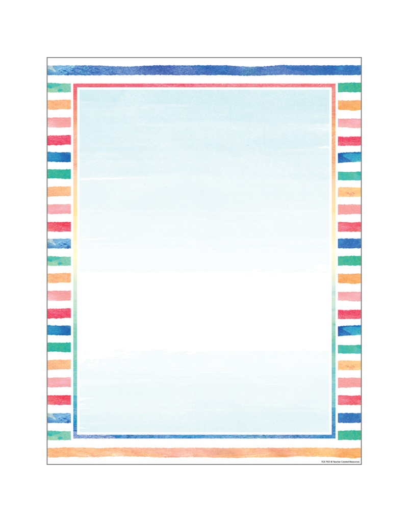 Watercolor  Blank Chart