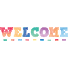 Watercolor Welcome Bulletin Board Display