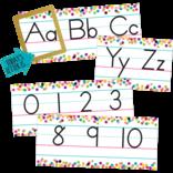 Confetti Alphabet Line