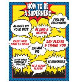 Superhero How to be a Superhero Chart