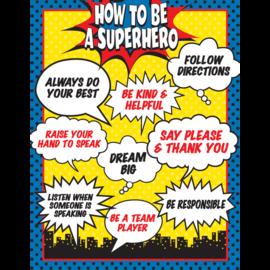 Superhero How to be a Superhero Chart