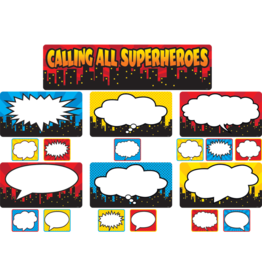 Superhero Calling All Superheros Mini Bulletin Board Set