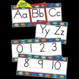 Superhero Alphabet Line Bulletin Board Set