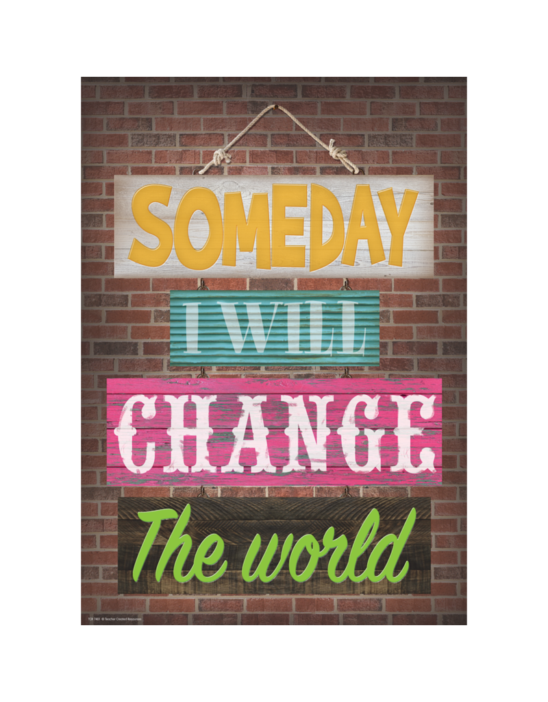 Someday I Will Change the World-Poster
