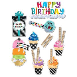 Bold & Bright Happy Birthday Mini Bulletin Board