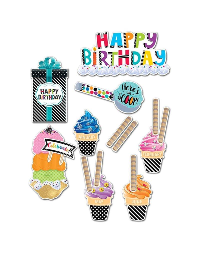 Bold & Bright Happy Birthday Mini Bulletin Board