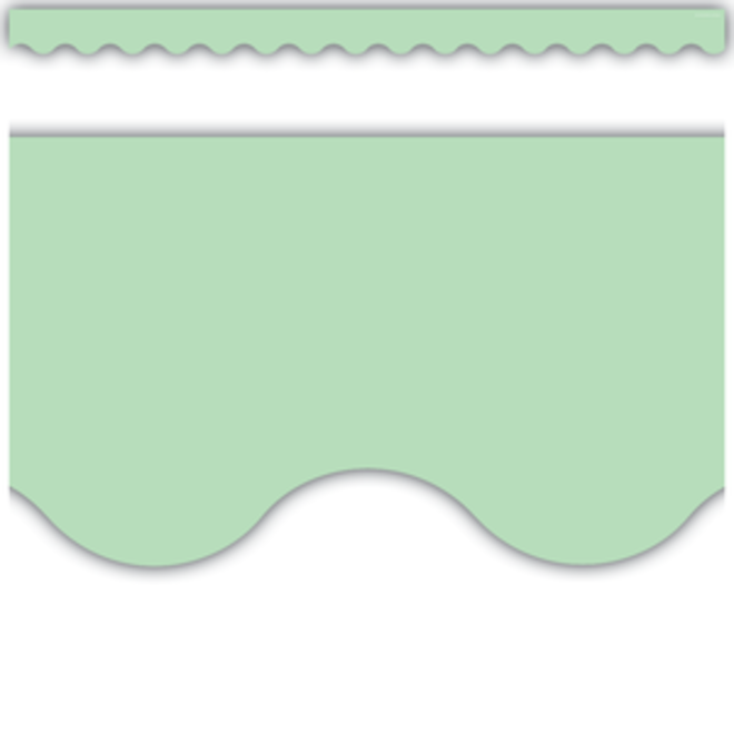Home Sweet Classroom Mint Green Scalloped Border Trim