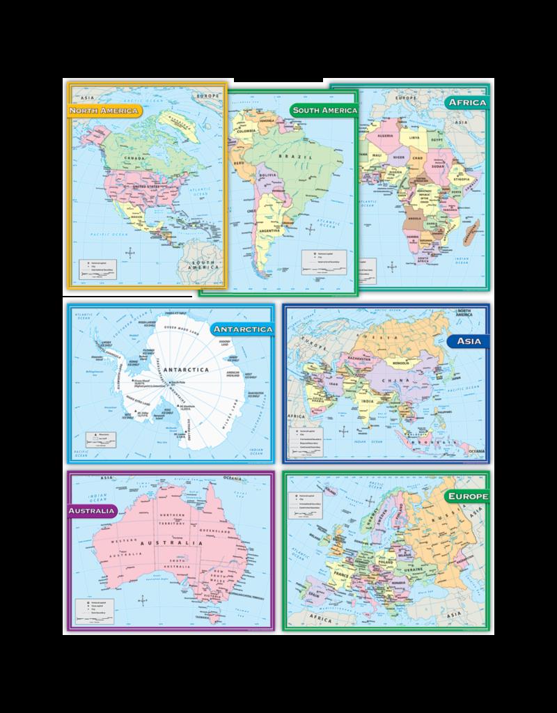 Continents Chart Set