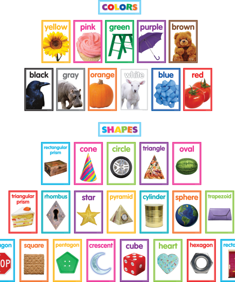 Colorful Shapes and Colors Bulletin Board