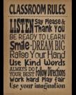 Burlap Classroom Rules...-Poster