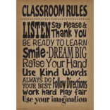 Shabby Chic Burlap Classroom Rules...-Poster