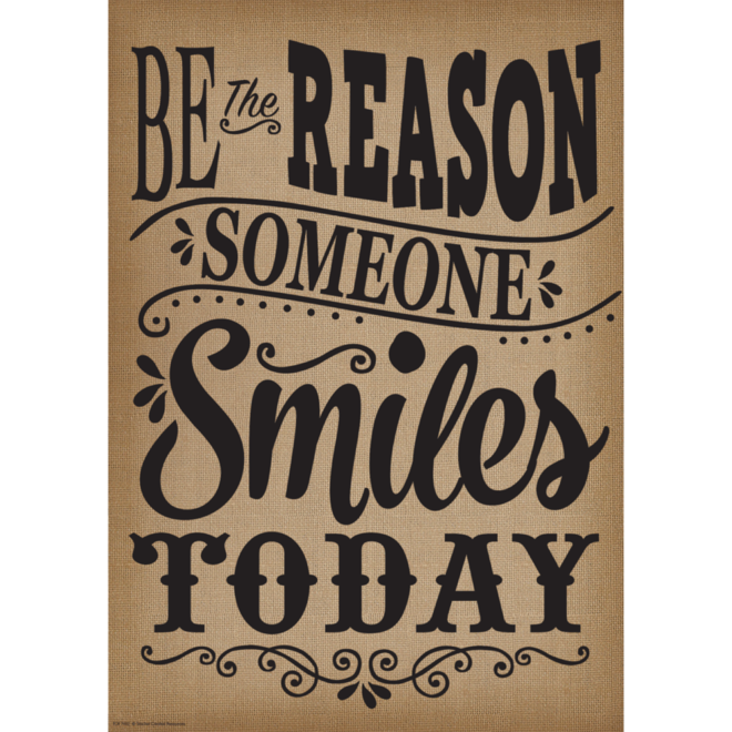 Shabby Chic Be The Reason Someone Smiles Today-Poster