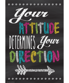 Your Attitude Determines Your Direction-Poster