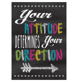 Chalkboard Brights Your Attitude Determines Your Direction-Poster