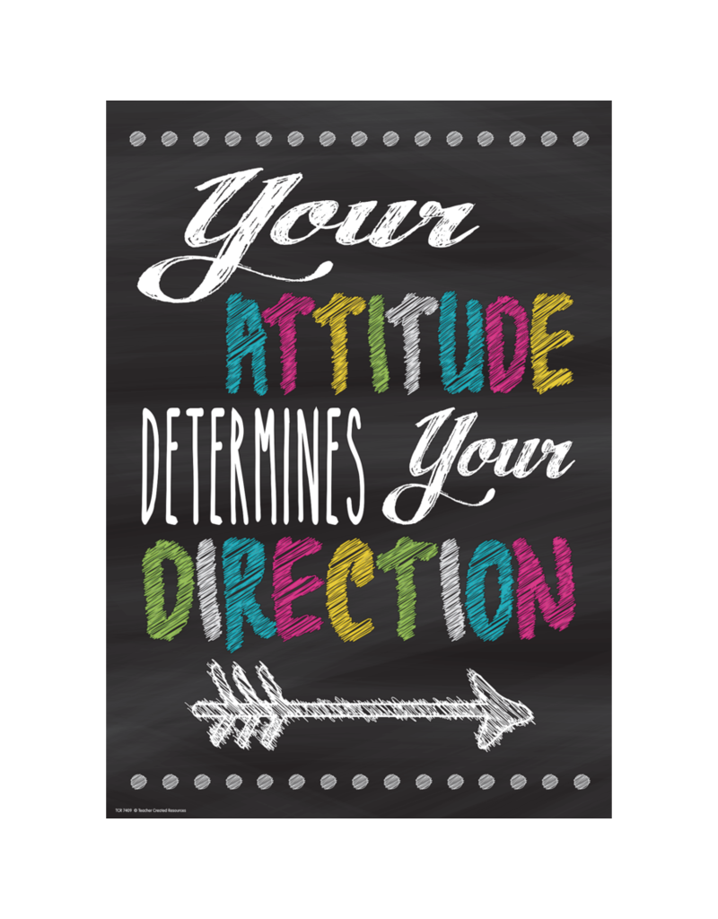 Chalkboard Brights Your Attitude Determines Your Direction.....poster