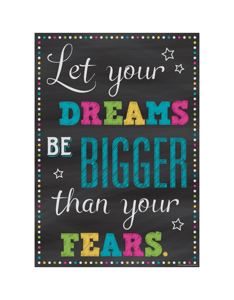 Chalkboard Brights Let Your Dreams Be Bigger....poster