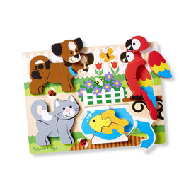 Wooden Chunky Jigsaw Puzzle-Pets