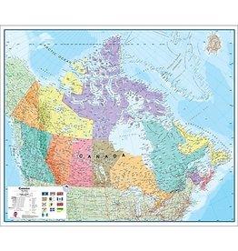 Laminated Canada Map