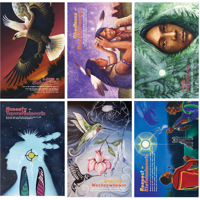 Sacred Laws Poster Set-Cree