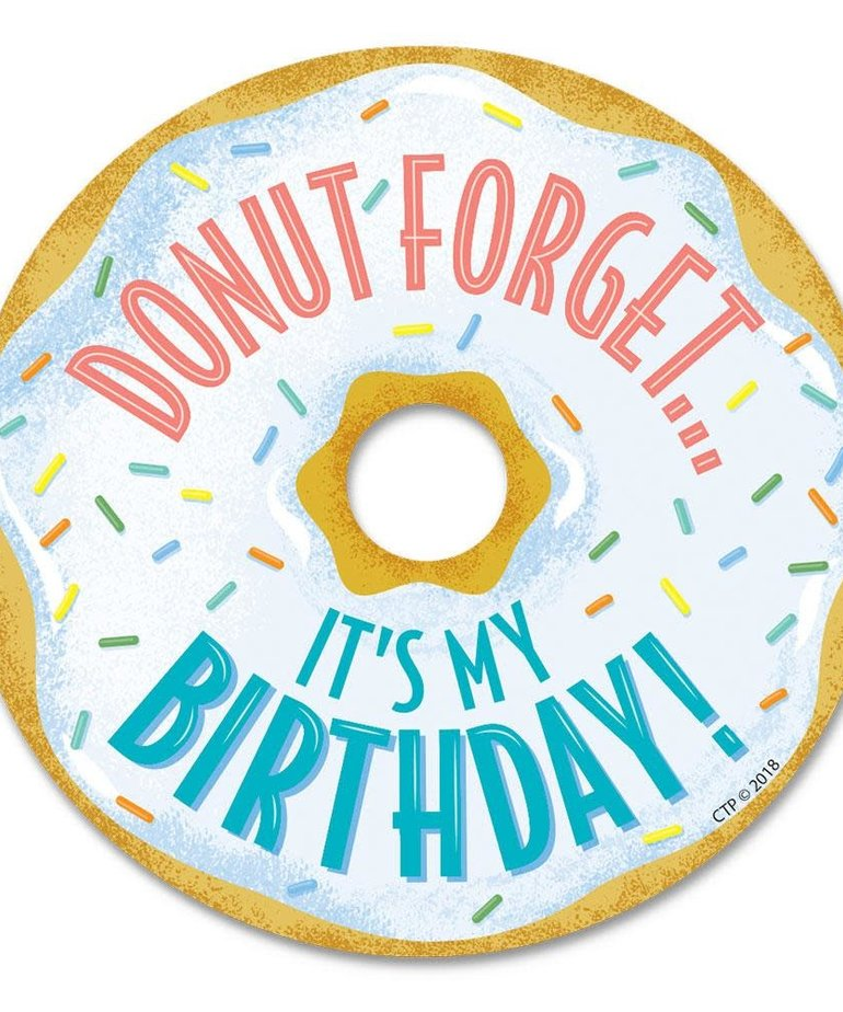 Donut Birthday Badges
