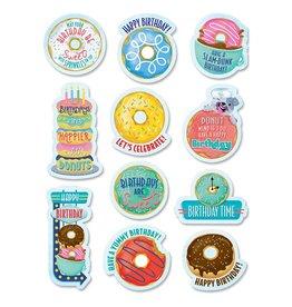 Donut Birthday Stickers