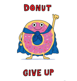 Donut Give Up-Poster