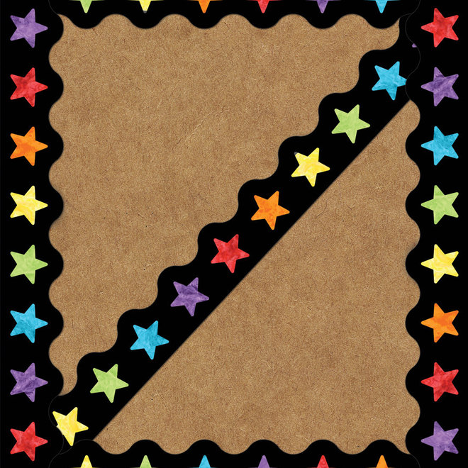 Celebrate Learn Watercolor Stars-Border