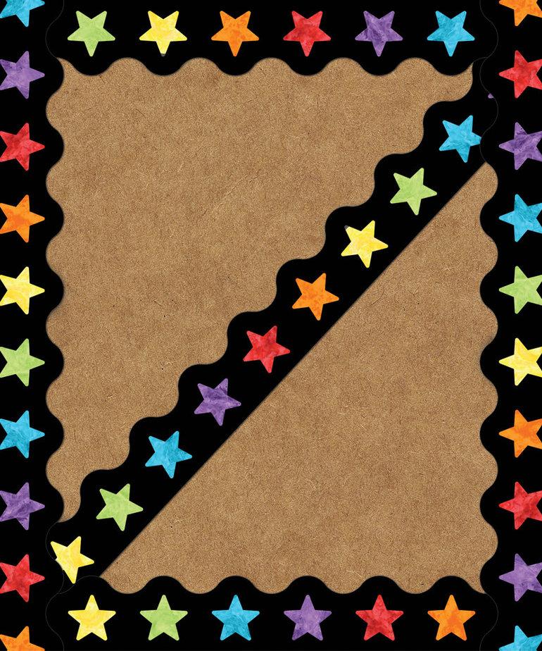 Celebrate Learn Watercolor Stars-Border
