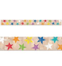Rustic Stars Border
