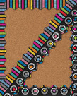 Colorful Chalkboard Two-Sided Scalloped Border
