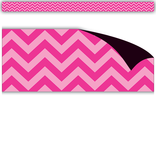 Hot Pink Chevron Magnetic Borders