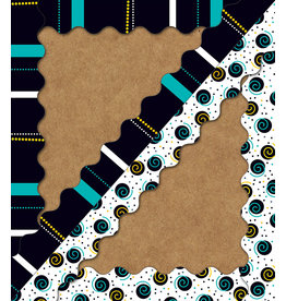 Black, White & Bold Two-Sided Scalloped Border