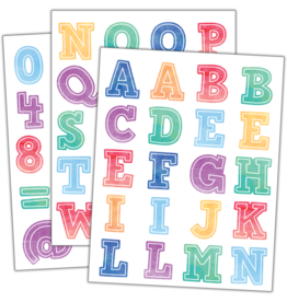 Watercolor Watercolor Alphabet Stickers