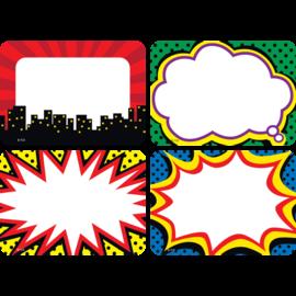 Superhero Name Tags/Labels- multi pack