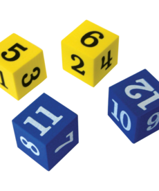 Foam Numbered Dice (1-12)