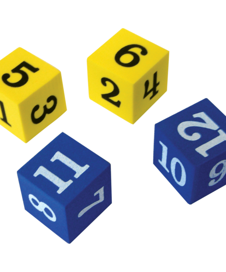 Foam Numbered Dice (1-12)
