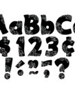 """Black Swirls 4"""" Letters"""
