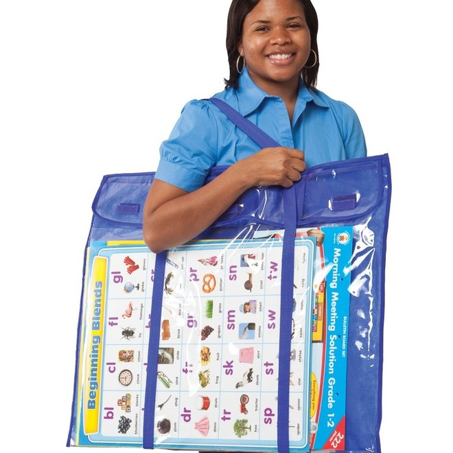 Deluxe Bulletin Board Pocket Chart Storage