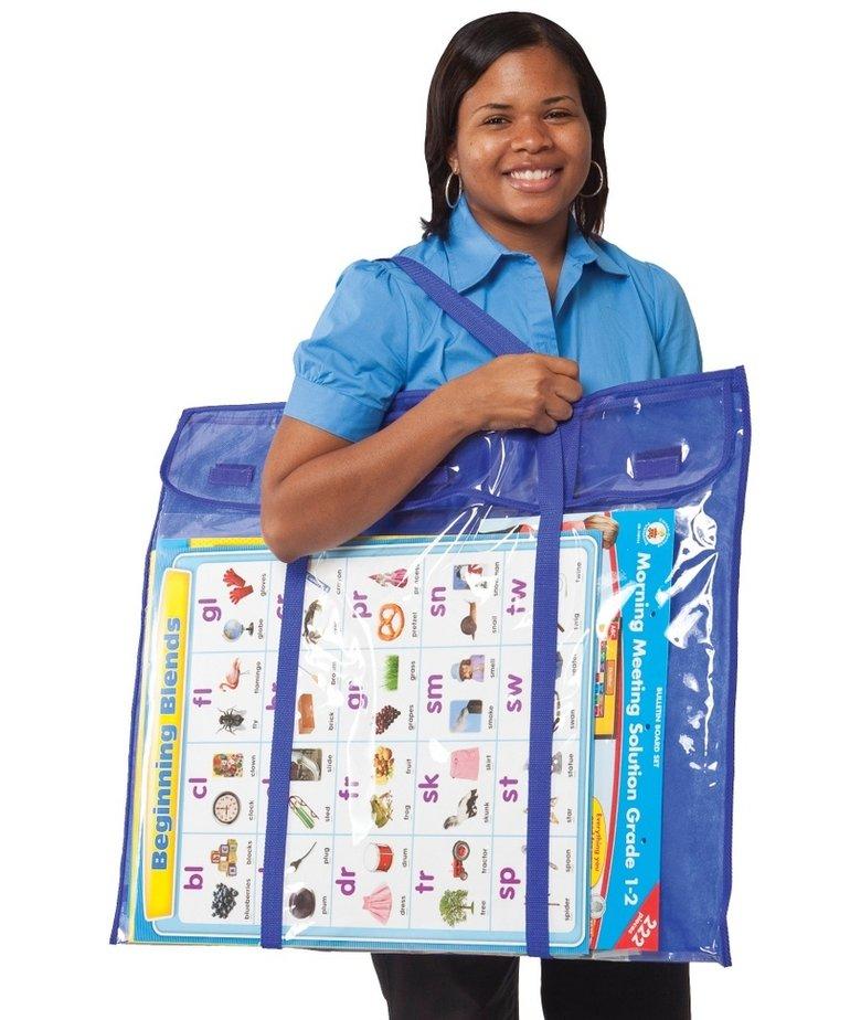 Deluxe Bulletin Board Pocket Chart Storage