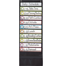 Deluxe Scheduling Black Pocket Chart