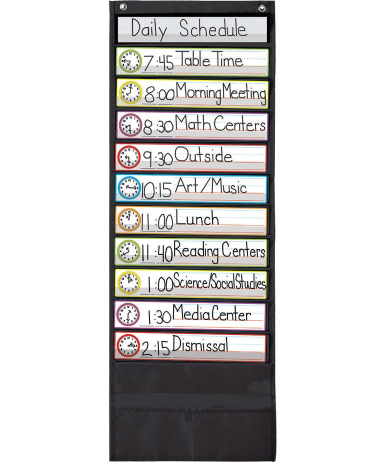 Deluxe Scheduling Black Pocket Chart