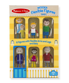 Melissa & Doug Wooden Flexible Figures-Family