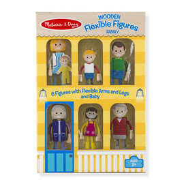 Melissa & Doug Wooden Flexible Figures-Family