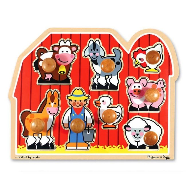 Melissa & Doug Farm Friend Large Peg Puzzle