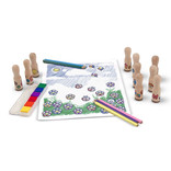 Melissa & Doug Deluxe Wooden Handle Stamps