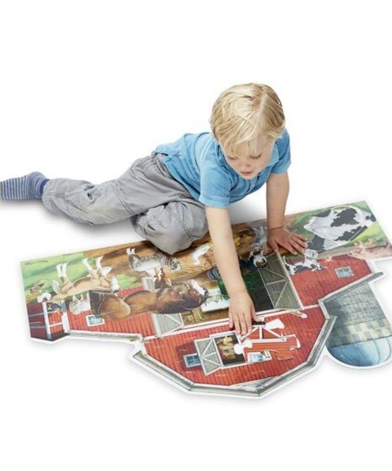 Melissa & Doug Busy Barn Floor Puzzle